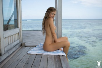 Cybergirl Of The Year Olivia Preston Stripping On Tiny Paradise Island